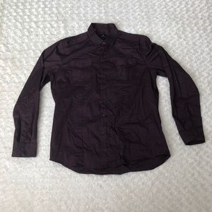 7 Diamonds L/S Dress Shirt Pockets Stretch